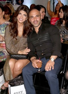 HAWTHORNE, NJ - MARCH 30: Teresa Giudice (L) and Joe Gorga attend the envy By Melissa Gorga Fashion Show at Macaluso's on March 30, 2016 in Hawthorne, New Jersey. (Photo by Paul Zimmerman/WireImage)